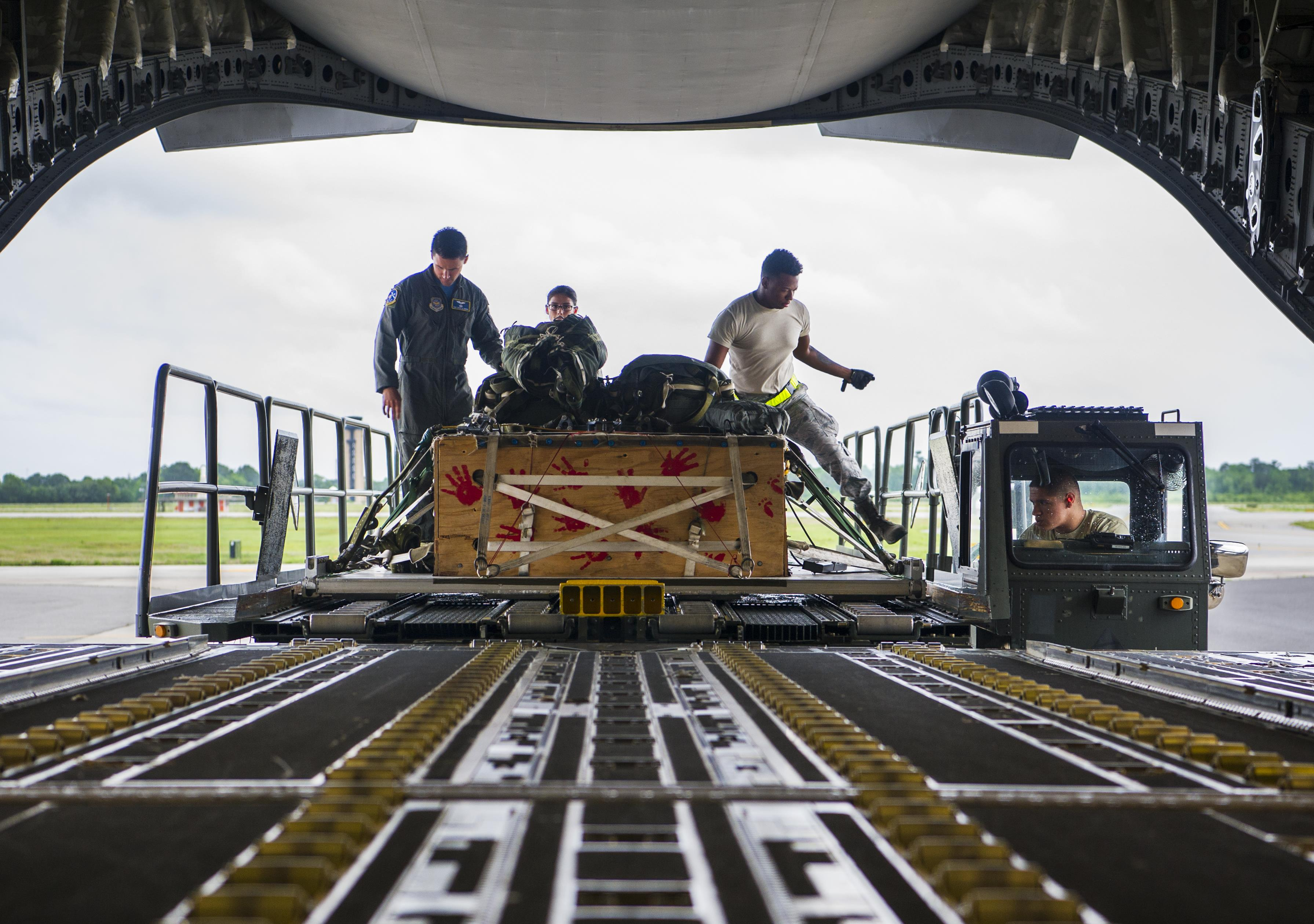 14th Airlift Squadron conducts cargo drop training