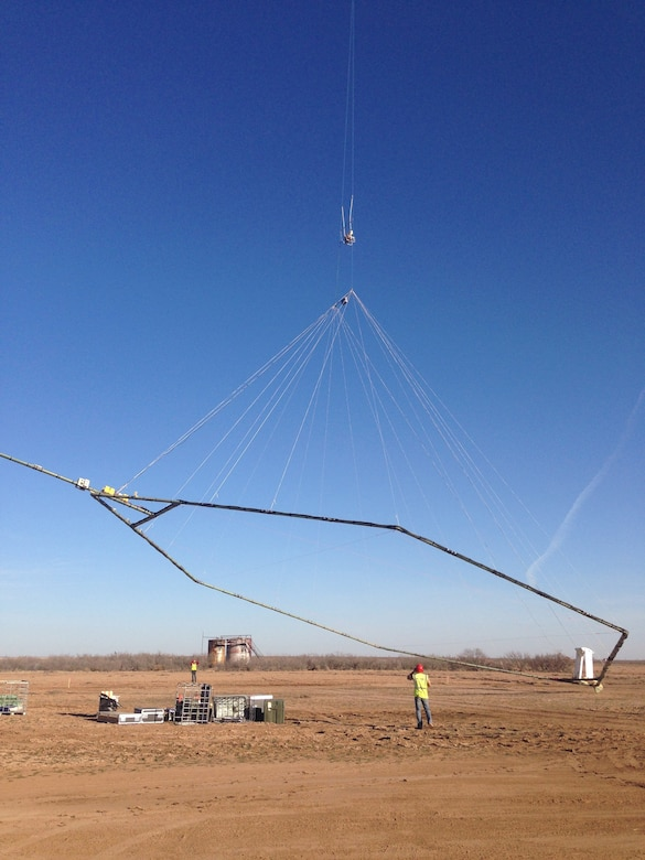 Beginning May 22 these instruments mounted below a helicopter will collect and record geologic measurements.