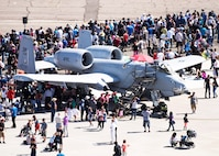 Thousands of people attended the Wings Over Solano Air Show at Travis Air Force Base Calif., May 7, 2017. Performers included the U.S. Air Force Thunderbirds Aerial Demonstration Team, U.S. Air Force Academy Wings of Blue and the U.S. Army Golden Knights parachute team, as well as civilian performers. (U.S. Air Force  photo/T.C. Perkins Jr.)