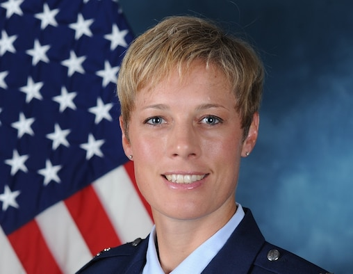 """Brig. Gen. """"select"""" Kristin Goodwin will assume command of the cadet wing at the U.S. Air Force Academy May 15, 2017. (U.S. Air Force photo)"""