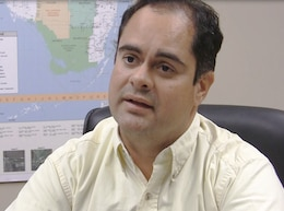 Luis Alejandro, chief of Jacksonville District's Water Management Section.