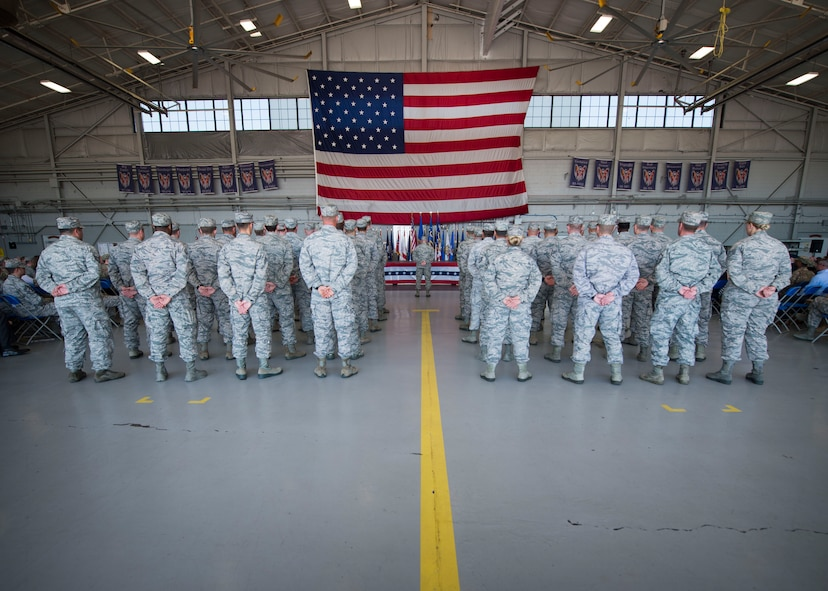Air Commandos with the Air Force Special Operations Air Warfare Center stand in formation before the 492nd Special Operations Wing activation ceremony at Hurlburt Field, Fla., May 10, 2017. The designator for the 492nd SOW dates back to WWII when the 801st Bombardment Group was established at Harrington Field, England, in September 1943. Almost a year later, it would be redesignated as the 492nd Bombardment Group, a cover for their secret mission-Operation Carpetbagger. (U.S. Air Force photo by Senior Airman Krystal M. Garrett)