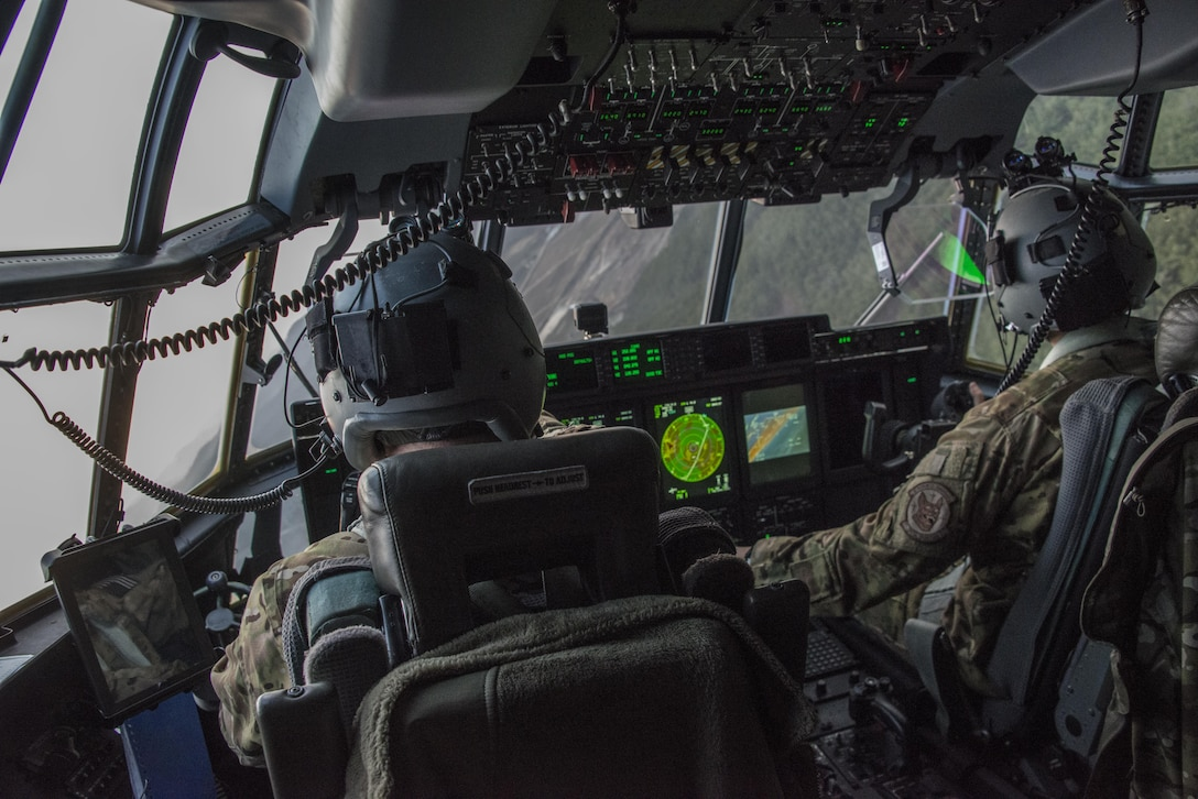 U.S. Air Force 17th Special Operations Squadron pilots conduct low-level operations through mountainous terrain on the Republic of Korea peninsula, April 1, 2017. Experts in specialized aviation, the 1st SOS and 17th SOS accomplished critical training objectives and performed complex missions with joint and combined partners during Foal Eagle 2017. (U.S. Air Force photo by Capt. Jessica Tait)
