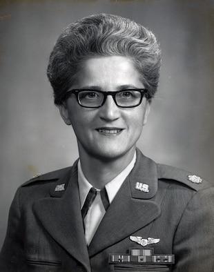 "Maj. Virginia M. Alena, the first recipient of the ""Flight Nurse of the Year"" award in 1968."
