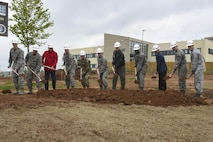 52nd Fighter Wing leadership, a U.S. Army Corps of Engineers representative and local government and construction officials participated in a ground breaking ceremony at the site of the Military Treatment Facility expansion on Spangdahlem Air Base, Germany, May 12, 2017. The ceremony created an opportunity to bring together and recognize all the organizations responsible for the $34 million, 54,000-square-foot project. (U.S. Air Force photo by Senior Airman Dawn M. Weber)