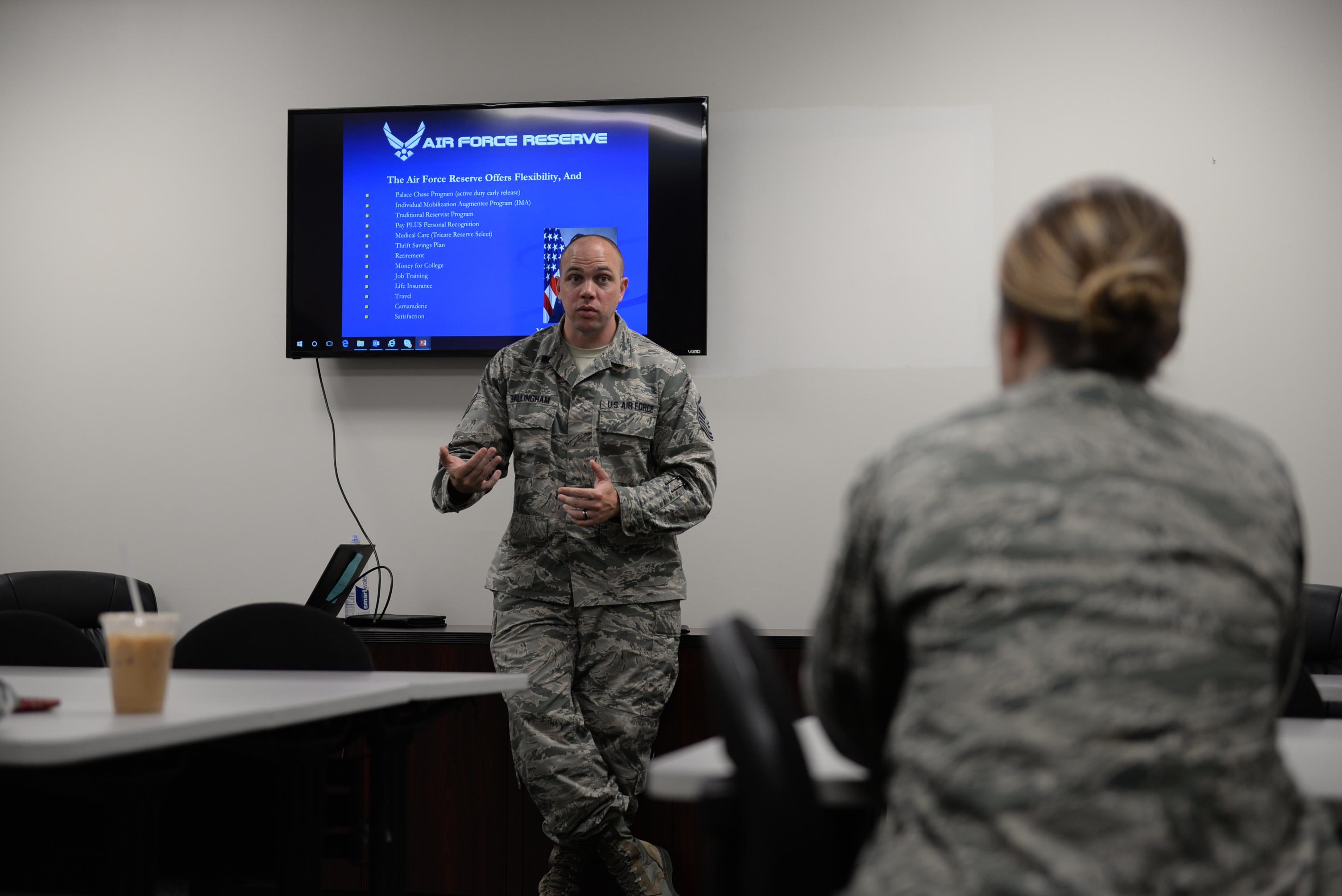 Military Medical Discharge Pay Chart: In-Service Recruiter briefs Airmen on AFRC e Columbus Air Force ,Chart