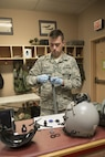 EIELSON AIR FORCE BASE, Alaska – U.S. Air Force Senior Airman Garrett Bryden, a 4th Operations Support Squadron aircrew flight equipment technician assigned to Seymour Johnson Air Force Base, N.C., performs maintenance on an oxygen mask May 4, 2017, during NORTHERN EDGE 2017 (NE17), at Eielson Air Force Base, Alaska. NE17 is Alaska's premier joint training exercise designed to practice operations, techniques and procedures as well as enhance interoperability among the services. Thousands of participants from all the services, Airmen, Soldiers, Sailors, Marines and Coast Guardsmen from active duty, Reserve and National Guard units are involved. (U.S. Air Force photo/Staff Sgt. Ashley Nicole Taylor)