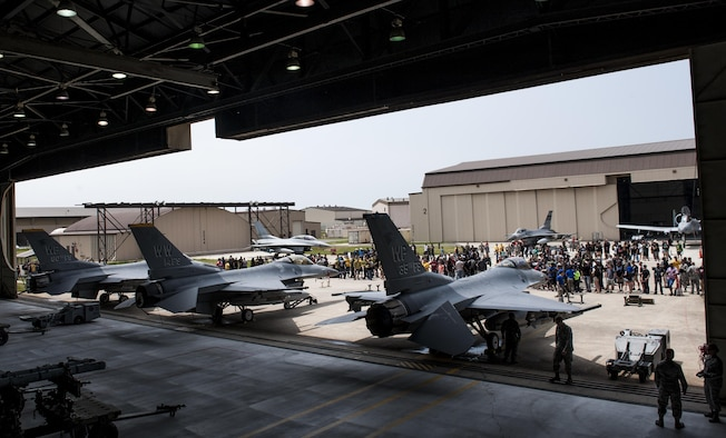 The 2017 annual weapons load crew competition begins at Kunsan Air Base, Republic of Korea, May 13, 2017. The competition included members from the 35th and 80th Aircraft Maintenance Units and the 38th Fighter Group, Republic of Korea Air Force, located here, the 25th and 36th AMUs, operating out of Osan Air Base and the 14th AMU, from Misawa Air Base. This is the first time Kunsan Air Base hosted a load crew competition that included members not stationed in Korea. (U.S. Air Force photo by Senior Airman Colville McFee/Released)