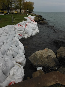 The U.S. Army Corps of Engineers (USACE), Buffalo District, dispatched a field team May 15th to conduct technical assessments of the most critical areas along the Lake Ontario shoreline, as identified by the New York State Office of Emergency Management and the New York State Department of Environmental Conservation.