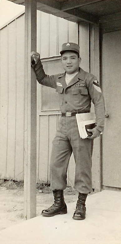 "Tatsuo ""Jimmy"" Schwartz stands in uniform. After serving the U.S. military for more than 50 years, Schwartz has developed relationships with leaders from around the Department of Defense."