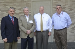 U.S. Army Engineer Research and Development Center Director Dr. David Pittman was excited to host Commissioner of Higher Education Dr. Glenn Boyce and Associate Commissioner for External Relations Paul Sumrall from Mississippi's Institutions of Higher Learning at ERDC-Vicksburg.  The first-time visitors to ERDC were in Vicksburg to explore increasing the size and scope of ERDC's Graduate Institute, as well as research and technology transfer partnerships. Pictured from left to right are ERDC Director Dr. David Pittman, Institutions of Higher Learning Commissioner Dr. Glenn Boyce, IHL Associate Commissioner Paul Sumrall and ERDC's Director of Human Capital Dr. Gary Anderton.