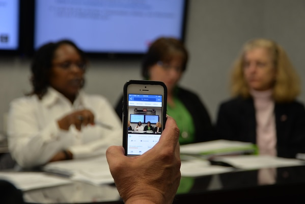 Huntsville Center's Office of Small Business Programs and program manager and contracting officer for a Medical Facilities Support and Services II contract  held the Center's first Facebook live session for a Medical Facilities Support and Services II contract May 4.
