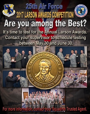 One thing the silent warfighters of American Intelligence, Surveillance and Reconnaissance seldom see is recognition for their hard work and dedication to the global ISR mission. That is why the Larson Awards are vital to 25th Air Force, National Air and Space Intelligence Center and the Airmen they recognize through the program.