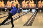 Air Force Capt. Danielle Crowder of Little Rock AFB,Arkansas wins the 2017 Armed Forces Women's Title at the Armed Forces Bowling Championship hosted at Marine Corps Base Camp Pendleton, California from 5-8 May at the Leatherneck Lanes.
