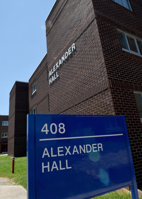 The I.G. Brown Training and Education Center's Alexander Hall is a dormitory building named after Chief Master Sgt. Lynn Alexander. Chief Alexander is a campus NCO academy graduate who became the second Senior Enlisted Advisor to the Director of the Air National Guard. (U.S. Air National Guard photo by Master Sgt. Mike R. Smith)