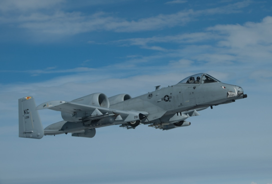 A-10s from the 442d Fighter Wing at Whiteman Air Force Base, Mo. fly over Estonia during Operation Atlantic Resolve in August 2016.