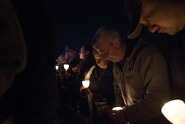 William and Michele McNaughton, from Centereach, New York, attend the 29th Annual Candlelight Vigil to represent their son, Staff Sgt. James D. McNaughton, being honored among other fallen police officers from around the country on the National Mall in Washington, D.C., May 13, 2017. McNaughton was a U.S. Army Reserve military police who was the first New York City police officer killed in action while deployed to Iraq, Aug. 2, 2005. Approximately 300 police officers' names were read, engraved into the National Police Memorial. (U.S. Army Reserve photo by Sgt. Audrey Hayes)