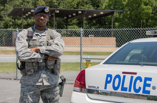 Staff Sgt. Brandon Dendy is a 94th Security Forces Squadron response force member. His desire to help people is the reason he became a police officer. (U.S. Air Force photo by Staff Sgt. Andrew Park)