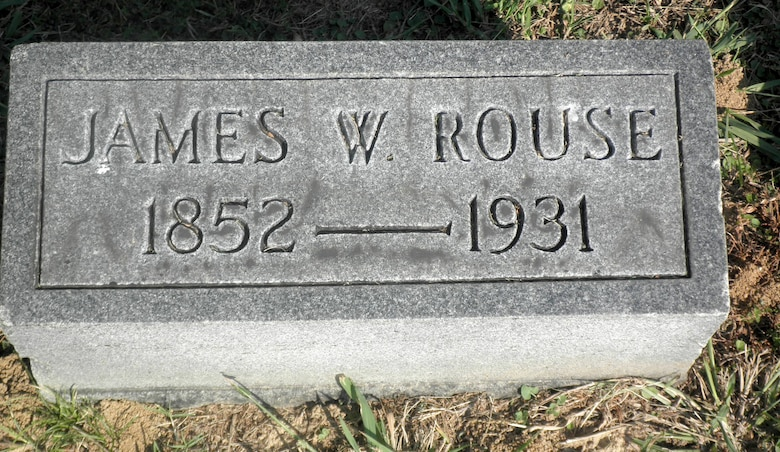Gravestone of Capt. James W. Rouse located in Forest Hill Cemetery Midtown, Memphis, Tenn.