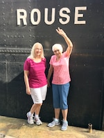 (L to R) Karen Tiedgen and her mother Mary Tiedgen stand in front of the Dry Dock Rouse.