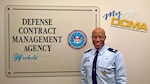 "My DCMA showcases the Defense Contract Management Agency's experienced and diverse workforce and highlights what being a part of the national defense team means to them. Today we meet Air Force Lt. Col. James ""Luther"" Vandross. (DCMA graphic by Thomas Perry)"