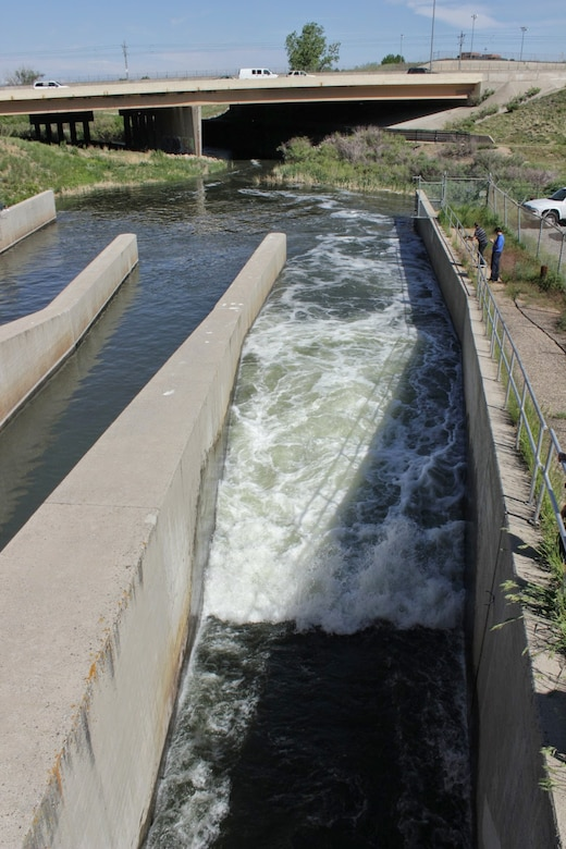 Release at Cherry Creek dam during a low flush year.
