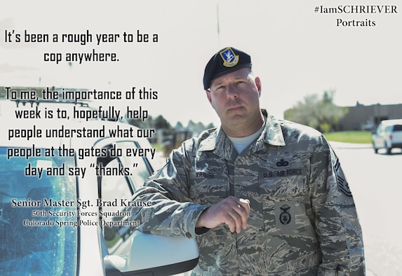 """IamSCHRIEVER Portraits"" feature photos and interviews of Team Schriever members and aim to engage community members and share their stories and experiences with all of Team Schriever. The intent is to increase awareness, appreciation and engagement of diversity within the force and enable more open, honest and respectful communication throughout base. If you are interested in sharing your stories, call the 50th Space Wing Public Affairs office at 719-567-5040."