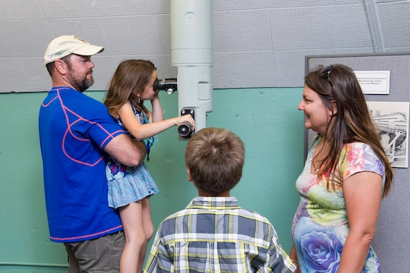 A family explores the Space Launch Complex-14 Blockhouse during the 2017 Cape Family Day April 29, at Cape Canaveral Air Force Station, Fla. The 45th Space Wing and the Naval Ordnance Test United hosted Cape Family Day to showcase operations for Airmen and their families. More than 2,300 visitors received a rare opportunity and an insider's look at the World's Premier Gateway to Space at the Cape.