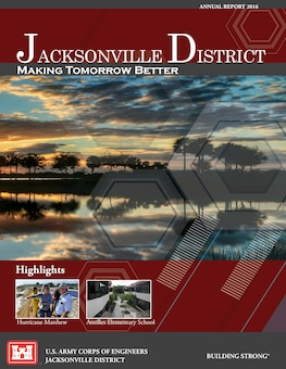 The report features highlights of the district's work