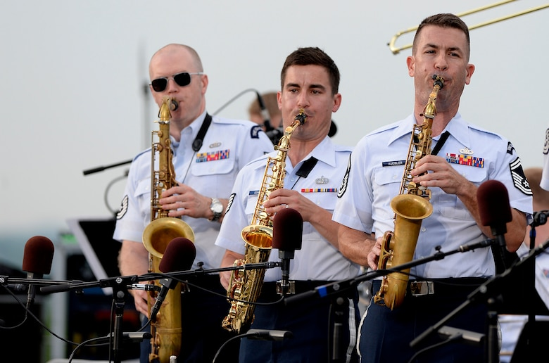 Air Force birthday celebration continues with the Air Force Band's summer series Heritage to Horizons at the Air Force Memorial in Arlington, Va., May 17, 2017. (U.S. Air Force photo/Andy Morataya)
