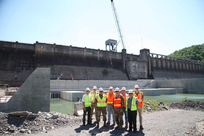 MG Jackson, USACE Deputy Commanding General for Civil Works and Emergency Operations, visited Bluestone Dam to learn more about its operations and the ongoing Dam Safety Assurance (DSA) Mega Project.