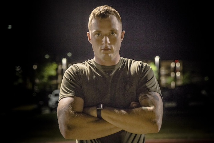 """Cpl. Jamie Brooks is a Marine Corps Martial Arts Program Instructor and sports coach who uses his free time to give back to the communities around him. He spends two hours every morning teaching Marines MCMAP and volunteers for an hour after work three times week to coach a youth sports team. Despite working 14 to 15 hour days he says he never gets tired of it. """"Seeing the shift in a Marines mindset - seeing the confidence they gain from belting up and challenging themselves is what makes the long hours worth it,"""" said Brooks. """"When I coach after work I get to see the kid's faces light up with joy and I know I am teaching them valuable life skills."""" Brooks is an administrative specialist with Headquarters and Headquarters Squadron."""