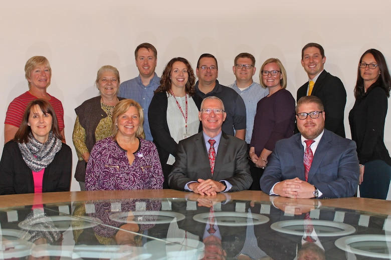 Stuart A. Hazlett (front row, center), director of contracting for USACE, visited the District's contracting office in October 2016 to review their contracting efforts.