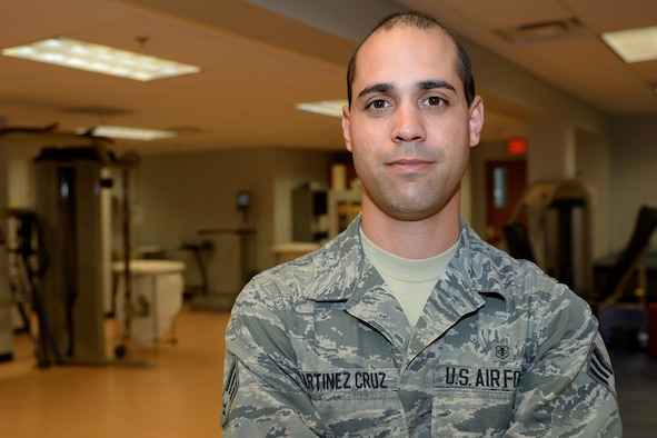 Senior Airman Hessen Martinez Cruz, 19th Medical Operations Squadron physical therapy technician, works to ensure every patient who comes into the physical therapy clinic is rehabilitated to the best of his ability. When Airmen suffer from illness or injury, their motor functions can often be adversely compromised. Physical therapists work closely with patients to help them heal and promote overall wellness by helping restore function, improve mobility and relieve pain. (U.S. Air Force photo by Airman 1st Class Codie Collins)