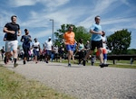 Runners kick off the first Bellwood Bash Family and Friends Day Celebration with a 5k Fun Run May 18, 2017 at Defense Supply Center Richmond, Virginia.