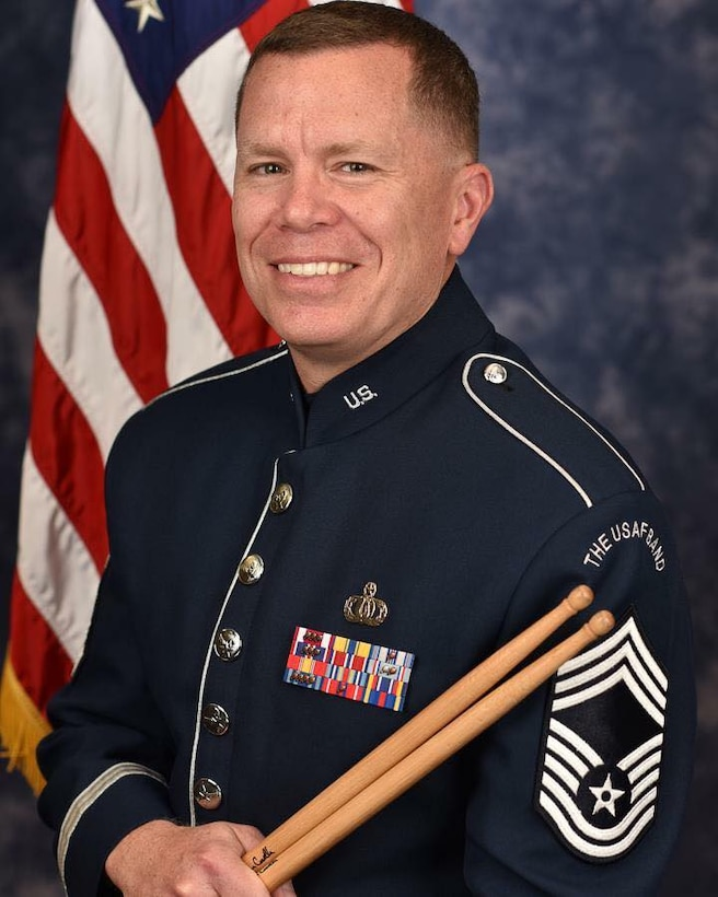 Congratulations to Chief Master Sergeant Chris Martin, Flight Chief of the Ceremonial Brass, who pinned on the highest enlisted rank in the Air Force this week. Well done, Chief! (US Air Force photos/CMSgt Kevin Burns/released)