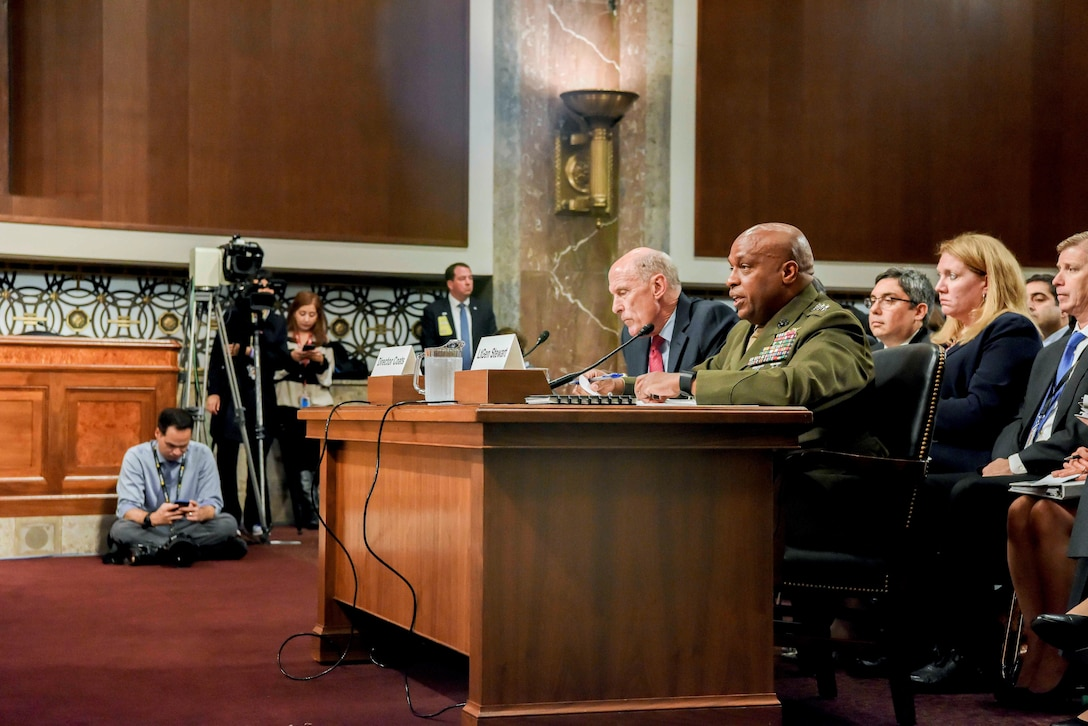 DIA Director LtGen Stewart Testifies Before the Senate Armed Services Committee May 23, 2017