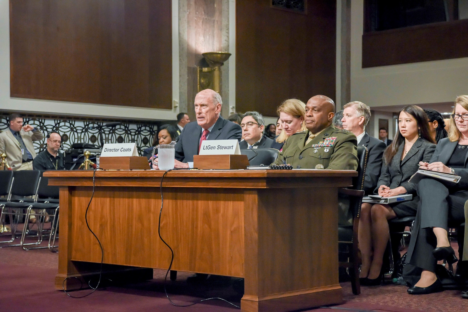 DIA Director LtGen Stewart Testifies Before the Senate Armed Services Committee May 23, 2017.