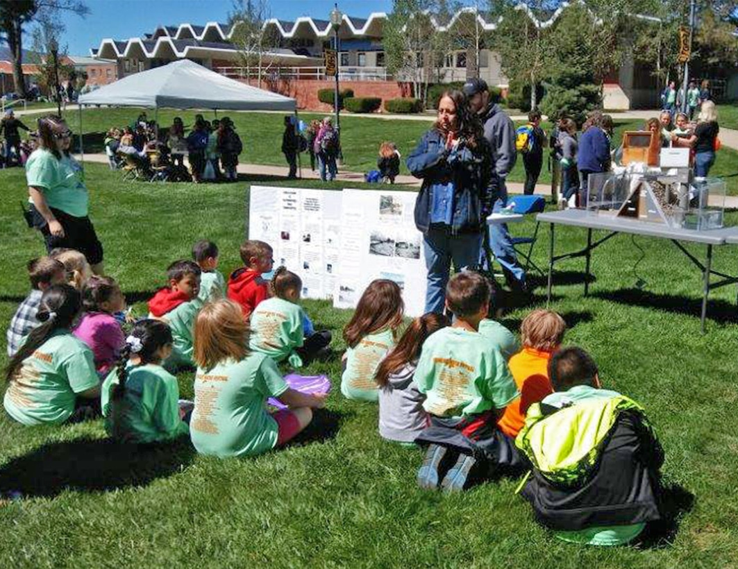 TRINIDAD, COLO. – District employee Bernadine Cisneros speaks about the Corps of Engineers and water safety to students attending the 6th Annual Trinidad Water Festival, May 18, 2017.