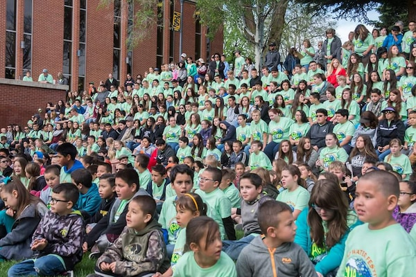 TRINIDAD, COLO. – Over 1,500 children from kindergarten to 12th grade attended the Trinidad Water Festival, May 18, 2017. Three District employees from the Trinidad Dam project office presented to more than 200 participating students during the festival.