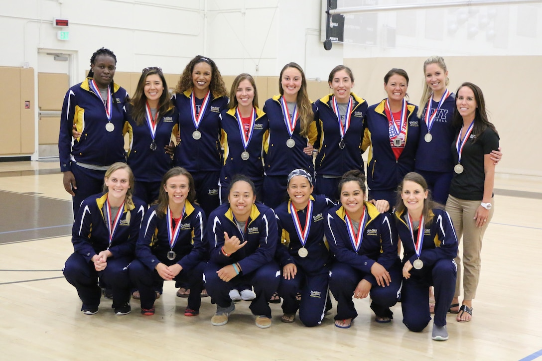 Navy wins the silver medal during the 2017 Armed Forces Women's Volleyball Championship at Naval Station Mayport, Florida held 17-21 May.