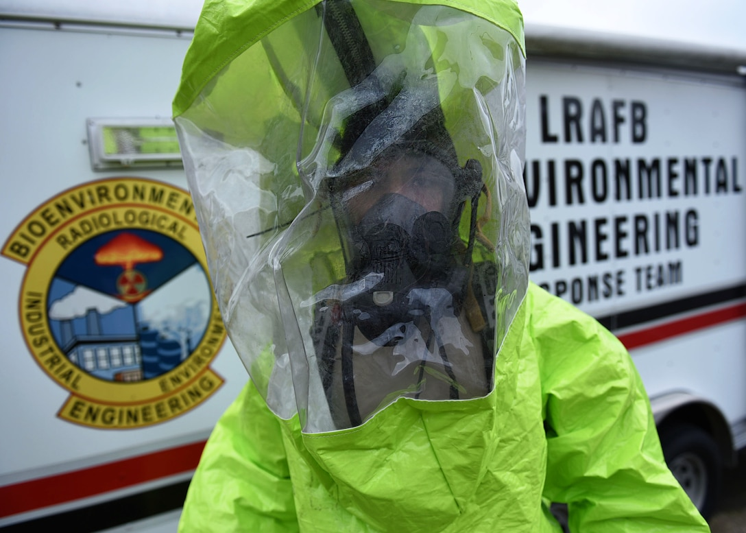 19th Aerospace Medicine Squadron Bioenvironmental Engineers are scientists and chemists as well as microbiologists that specialize in identifying and evaluating potential health hazards in the workplace and surrounding areas. Tools they use are to survey ventilation systems for proper airflow, check water pH levels for contaminations and equip deploying service members with lifesaving gas masks. (U.S. Air Force photo by Airman 1st Class Kevin Sommer Giron)