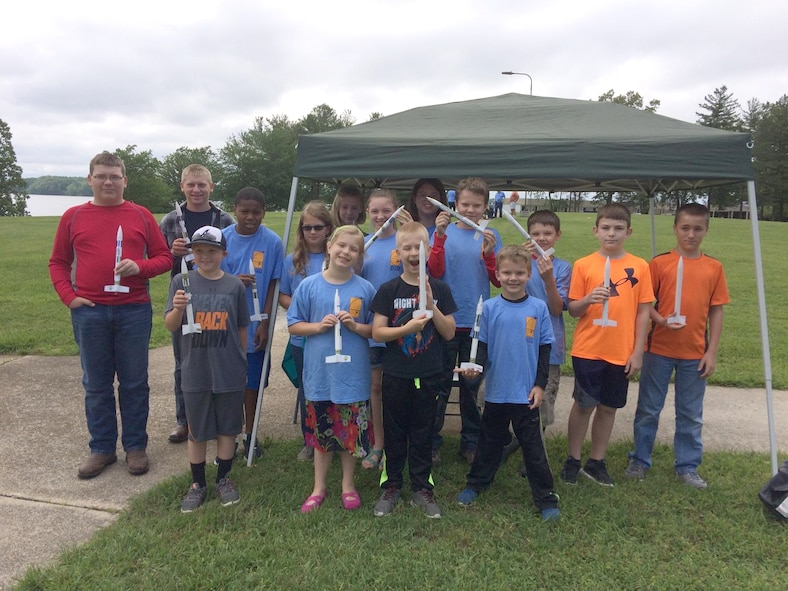 This group of 15 students, ranging from 10-18 years old from the southern middle Tennessee region, participated in the local Reach for the Stars rocket launching competition May 13 at University of Tennessee Space Institute. (Photo provided)