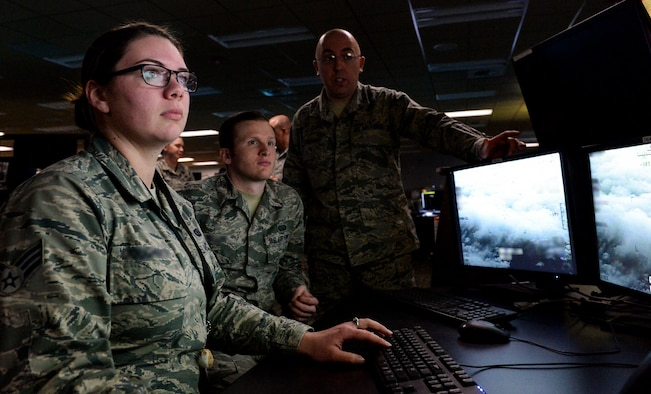 Airmen from the 480th Intelligence, Surveillance and Reconnaissance Wing perform their jobs at Joint Base Langley-Eustis. An Airmen Resiliency Team embedded with the 480th ISR Wing provides mental, medical and spiritual care to help Airmen in the Wing cope with their high stress duties.