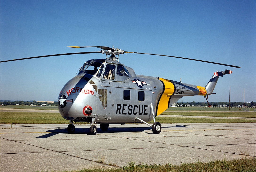 """Sikorsky H-19 """"Chickasaw"""" display, National Museum of the Air Force. (U.S. Air Force photo)"""
