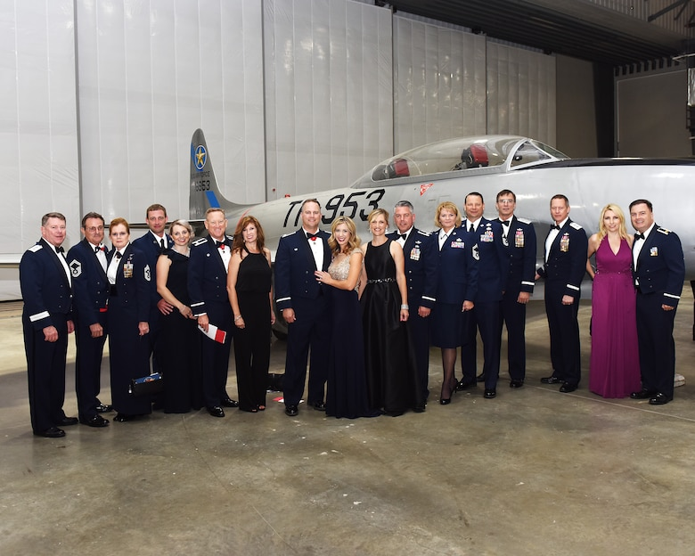 Members of the 147th Attack Wing, 149th Fighter Wing, and Texas Military Department Leadership attend a gala at the new Lone Star Flight Meseum in Houston, Texas on May 20, 2017. The Lone Star Flight Museum inducted the 147th Attack Squadron into the Texas Aviation Hall of Fame; established in 1997 to honor famous aviators who are Texans and famous Texans who are aviators.