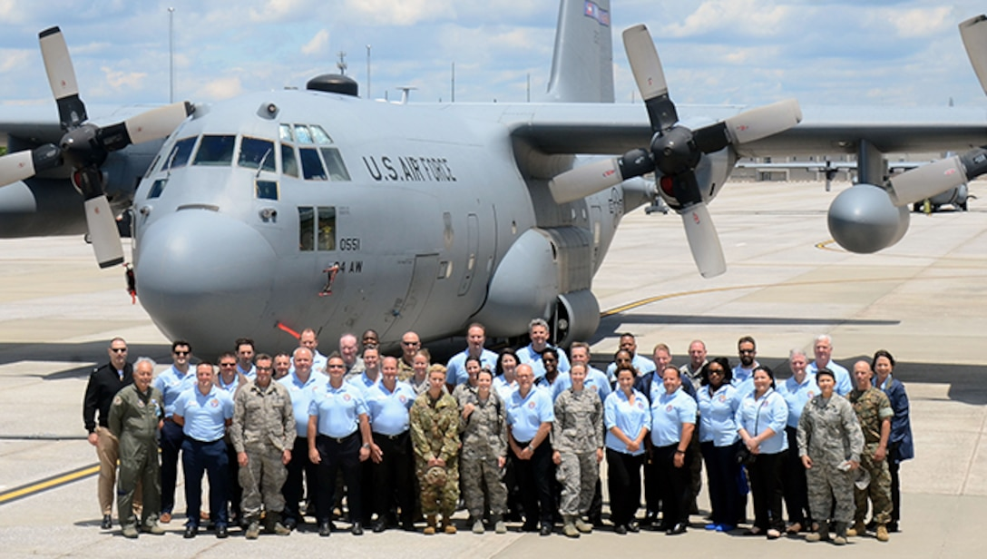 Members of the Honorary Commanders Association Class of 2017 explore various missions and training facilities at Dobbins Air Reserve Base, Georgia May 25, 2017. The HCA annually selects community and business leaders and pairs them with military commanders in a yearlong program, giving the leaders the opportunity to learn more about local military activities, their impact on our economy and various aspects of the national defense system. (U.S. Air Force photo/Don Peek)