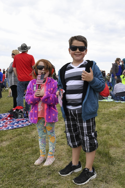 Visitors enjoy a day at the 2017 Wings Over Pittsburgh Open House/ Airshow at the Pittsburgh International Airport Air Reserve Station, Pa., May 14, 2017. The 2017 show marked the return of Wings Over Pittsburgh after a 6 year hiatus. (U.S. Air Force photo be Senior Airman Beth Kobily)
