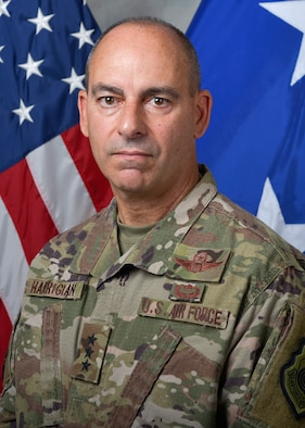 Official Photo of U.S. Air Force Lt. Gen. Jeffrey L. Harrigian, Commander, U.S. Forces Central Command, at Al Udeid Air Base, Qatar, on May 26, 2017. (U.S. Air National Guard photo by Master Sgt. Andrew J. Moseley/Released)