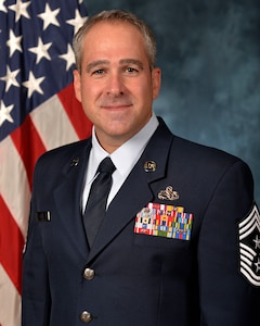 Chief Master Sergeant Kristopher K. Berg, Command Chief Master Sergeant for the 502d Air Base Wing, as well as the Command Chief Master Sergeant for Joint Base San Antonio, Texas, which spans over 64 miles and is comprised of 266 mission partners with over 80,000 full-time employees.